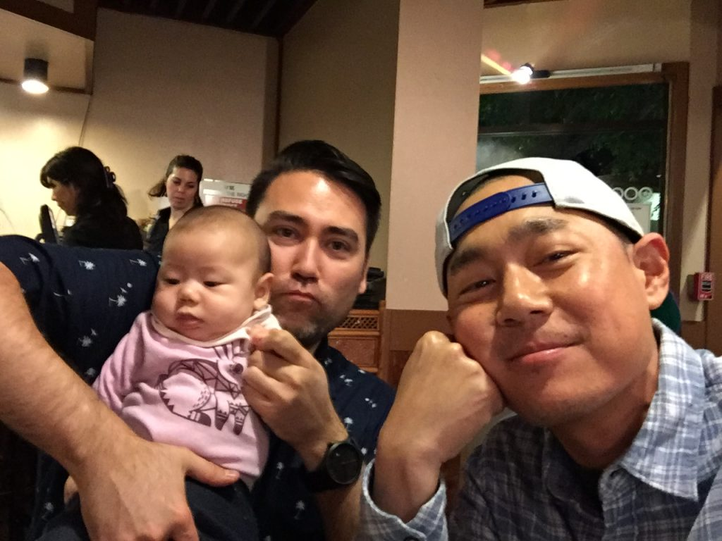 (Jeff with daughter, Yuki and Alex Tung)