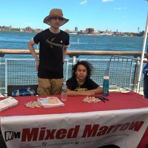 (Mixed Marrow volunteer, Joe and volunteer, Kathleen's son, Miles )